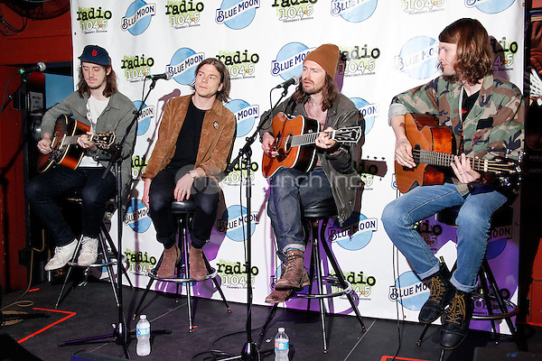 PHILADELPHIA, PA - MAY 13 :  Cage The Elephant pictured backstage at a Radio 104.5 private concert at Silk Cityr in Philadelphia, Pa on May 13, 2016  photo credit  Star Shooter / MediaPunch