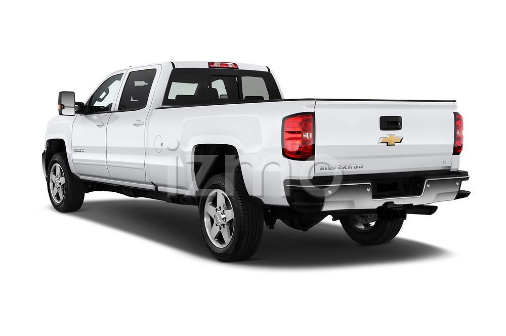 Car pictures of rear three quarter view of a 2019 Chevrolet Silverado 2500 LT Crew Cab 4 Door Pick Up angular rear