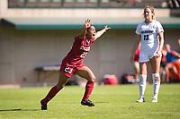 STANFORD, CA - October 21, 2018: Kiki Pickett at Laird Q. Cagan Stadium. No. 1 Stanford Cardinal defeated No. 15 Colorado Buffaloes 7-0 on Senior Day.