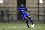 19 September 2014: Duke's Kevon Black (CAN). The Duke University Blue Devils hosted the University of North Carolina Tar Heels at Koskinen Stadium in Durham, North Carolina in a 2014 NCAA Division I Men's Soccer match. Duke won the game 2-1.