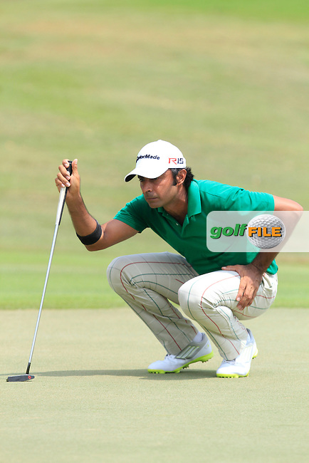 Jyoti Randhawa (IND) on the 7th green during Round 4 of the True Thailand Classic at the Black Mountain Golf  Club on Sunday 15th February 2015.<br /> Picture:  Thos Caffrey / www.golffile.ie