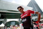 Alberto Contador (ESP) Trek-Segafredo at sign on before the start of Stage 2 the Nation Towers Stage of the 2017 Abu Dhabi Tour, running 153km around the city of Abu Dhabi, Abu Dhabi. 24th February 2017<br /> Picture: ANSA/Matteo Bazzi | Newsfile<br /> <br /> <br /> All photos usage must carry mandatory copyright credit (&copy; Newsfile | ANSA)