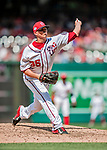 20 May 2018: Washington Nationals pitcher Sammy Solis on the mound against the Los Angeles Dodgers at Nationals Park in Washington, DC. The Dodgers defeated the Nationals 7-2, sweeping their 3-game series. Mandatory Credit: Ed Wolfstein Photo *** RAW (NEF) Image File Available ***