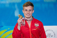 Picture by Alex Whitehead/SWpix.com - 11/04/2018 - Commonwealth Games - Diving - Optus Aquatics Centre, Gold Coast, Australia - Jack Laugher of England wins Gold in the Men's 1m Springboard final.