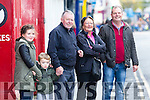 Enjoying the Circus Festival Parade in Tralee on Sunday were Kieran O'Sullivan, Joan Carey, Daragh Carey, Daragh McBride and Shaolin McBride