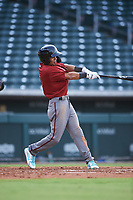 AZL D-backs Leodany Perez (4) at bat during an Arizona League game against the AZL Cubs 1 on July 25, 2019 at Sloan Park in Mesa, Arizona. The AZL D-backs defeated the AZL Cubs 1 3-2. (Zachary Lucy/Four Seam Images)
