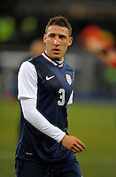 Fabian Johnson  (USA), during the friendly match Italy against USA at the Stadium Luigi Ferraris at Genoa Italy on february the 29th, 2012.