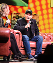 COCONUT CREEK, FL - FEBRUARY 15: An Intimate Evening and Q&A with actor Charlie Sheen Moderator by Lynn Martinez (L)  from Deco Drive, WSVN 7 At Seminole Casino Coconut Creek on February 15, 2020 in Coconut Creek , Florida.  ( Photo by Johnny Louis / jlnphotography.com )