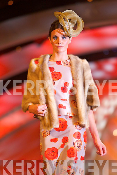 Carol Kennelly Millinery Designs at the Autumn Winter Fashion Show at the Rose of Tralee International Festival in the Festival Dome, Tralee on Sunday.