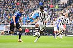 04.11.2018, Sch&uuml;coArena / Schueco Arena, Bielefeld, Deutschland, GER, 2. FBL, DSC Arminia Bielefeld vs. FC St. Pauli<br /> <br /> DFL REGULATIONS PROHIBIT ANY USE OF PHOTOGRAPHS AS IMAGE SEQUENCES AND/OR QUASI-VIDEO.<br /> <br /> im Bild Zweikampf zwischen Stephan Salger (#11 Bielefeld) und Sami Allagui (#11 St. Pauli)<br /> <br /> Foto &copy; nordphoto / Kurth