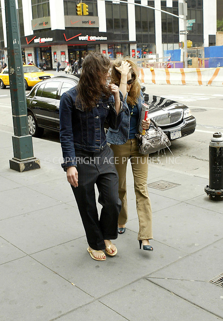WWW.ACEPIXS.COM . . . . .***EXCLUSIVE!!! FEE MUST BE NEGOTIATED!!!***....NEW YORK, MAY 6, 2005....Sarah Jessica Parker is seen entering and exiting the HBO offices with a book under her arm. The book is A Horse of a Different Color and speaking of different colors it would seem SJP has changed from a purple Balenciaga bag to a silver one.....Please byline: Ian Wingfield - ACE PICTURES..... *** ***..Ace Pictures, Inc:  ..Craig Ashby (212) 243-8787..e-mail: picturedesk@acepixs.com..web: http://www.acepixs.com