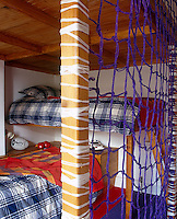 In this child's bedroom of Rosie and Graham Campbell's house in Ireland the bed was designed and made by carpenter Brian Frew