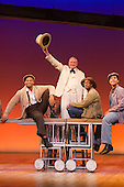 "16/10/2014. London, England. Julian Glover as the Interlocutor in the centre. The Musical ""The Scottsboro Boys"" transfers after a successful run at the Young Vic to the Garrick Theatre in Charing Cross Road - for a limited 20-week season, from 4 October 2014. With Colman Domingo as Mr Bones, Forrest McClendon as Deputy Tambo, Julian Glover as The Interlocutor and Dawn Hope as The Lady. Music and lyrics by John Kander and Frank Ebb, book by David Thompson, direction and choreography by Susan Stroman."