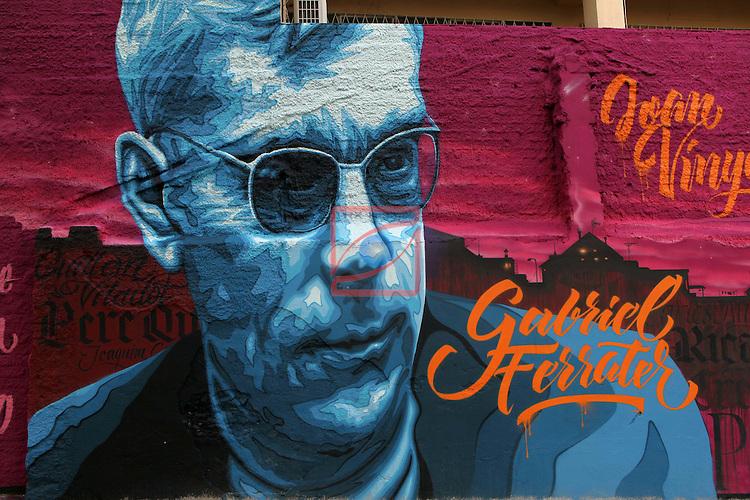 Street Art-Graffittis.<br /> Barcelona - Travessera de Les Corts.