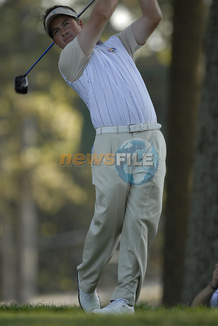 European Team member Graeme McDowell drives off on the 12th tee during Practice Day1 of the 37th Ryder Cup at Valhalla Golf Club, Louisville, Kentucky, USA, 17th September 2008 (Photo by Eoin Clarke/GOLFFILE)
