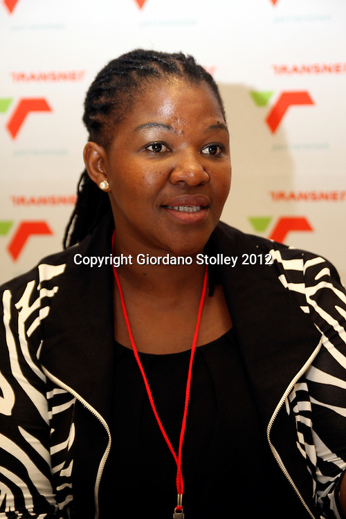 DURBAN - 28 March 2012 - Chief Operating Officer of Transnet Port Terminals Nosipho Damasane at a press conference following the announcement of upgrades to Durban's RORO and Maydon Wharf Terminals..Picture: Giordano Stolley/Allied Picture Press/APP