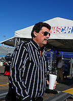 Nov. 8, 2008; Avondale, AZ, USA; NASCAR Sprint Cup Series prsident Mike Helton during practice for the Checker Auto Parts 500 at Phoenix International Raceway. Mandatory Credit: Mark J. Rebilas-