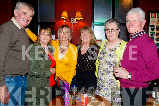 Jimmy Joe Spillane, Lily Moore, Gretta Spillane, Maggie Shortt with Mary Griffin and John Griffin, enjoying the 80's/90's fundraiser disco at the Abbey Tavern, Ardfert on Saturday night last.