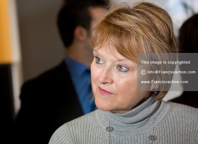 Profile photo on Nicole Menard, ministre quebecoise du Tourisme et ministre responsable de la région de la Montérégie (MNA for the riding of Laporte in the Montérégie region and the current Minister of Tourism) February 17, 2009.