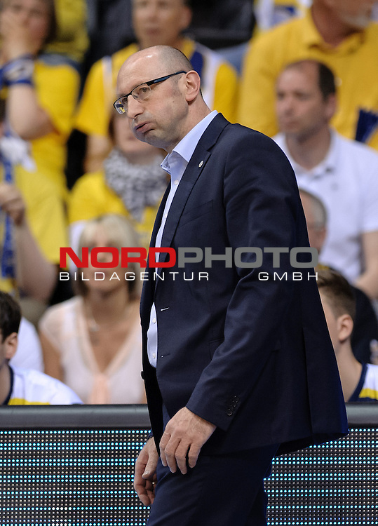 13.05.2015, EWE Arena, Oldenburg, GER, BBL, Play-Off VF, EWE Baskets Oldenburg vs ALBA BERLIN, im Bild Mladen Drijencic (Trainer EWE Baskets Oldenburg)<br /> <br /> Foto &copy; nordphoto / Frisch