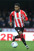 Rico Henry of Brentford in action during Brentford vs Luton Town, Sky Bet EFL Championship Football at Griffin Park on 30th November 2019