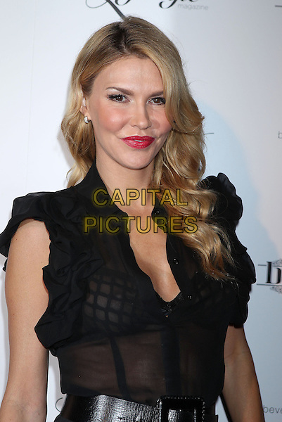 Brandi Glanville.Beverly Hills Lifestyle Magazine Fall 2012 Launch Party at Kyle by Alene Too, Bervely Hills, California, USA, .27th September 2012..portrait headshot black dress sheer see thru through bra mesh nipple boob breast .CAP/ADM/RE.©Russ Elliot/AdMedia/Capital Pictures.