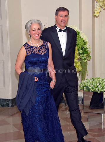 Michael Alter, President, The Alter Group, and Ellen Alter arrive for the State Dinner in honor of Prime Minister Trudeau and Mrs. Sophie Gr&Egrave;goire Trudeau of Canada at the White House in Washington, DC on Thursday, March 10, 2016.<br /> Credit: Ron Sachs / Pool via CNP/MediaPunch