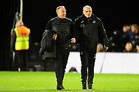 Steve Cooper Head Coach of Swansea City and Mike Marsh, assistant first team coach for Swansea City during the Sky Bet Championship match between Fulham and Swansea Citry at Craven Cottage in London, England, UK. Wednesday February 26, 2020.