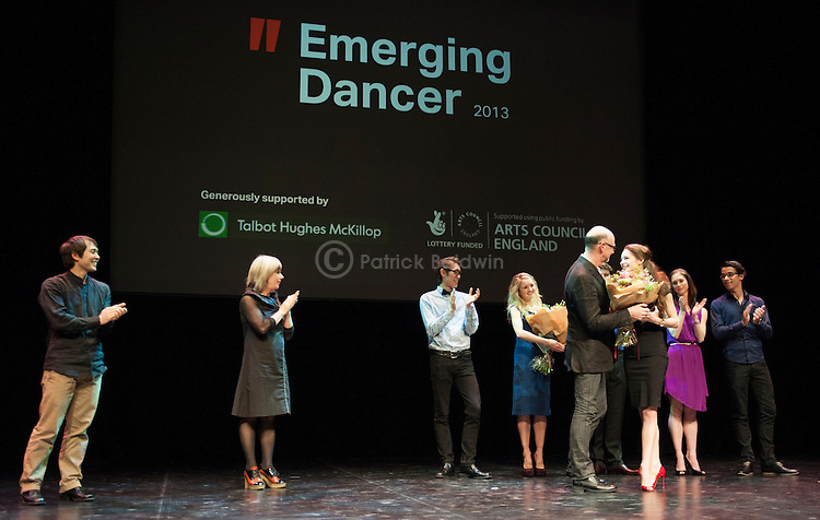 English National Ballet. Emerging Dancer competition 2013. The Queen Elizabeth Hall. Awards presentation.
