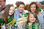 Pictured at the Kerry fans Family day held in Fitzgerald Stadium on Saturday were l-r: Katie Gentleman (Ballyheigue) Gillian Gentleman (Ballyheigue) baby Gerald O'Grady (Milltown) Caitriona O'Grady (Milltown) with Meabh Gentleman (Ballyheigue)