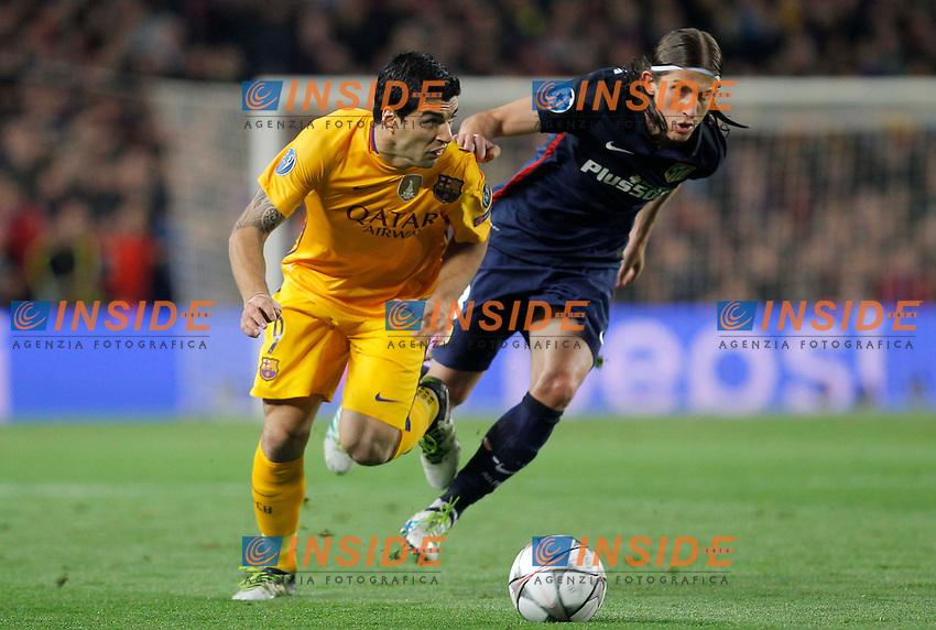 luis suarez (barca)<br />  <br /> Barcellona 05-04-2016 <br /> Football Calcio 2015/2016 Champions League <br /> Barcellona - Atletico Madrid Quarti di finale<br /> Foto Panoramic / Insidefoto <br /> ITALY ONLY