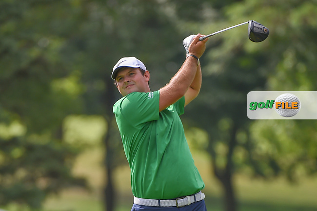 Patrick Reed (USA) watches his tee shot on 3 during 2nd round of the World Golf Championships - Bridgestone Invitational, at the Firestone Country Club, Akron, Ohio. 8/3/2018.<br /> Picture: Golffile | Ken Murray<br /> <br /> <br /> All photo usage must carry mandatory copyright credit (© Golffile | Ken Murray)