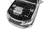 Car Stock 2016 Lexus ES 350 4 Door Sedan 2WD Engine  high angle detail view