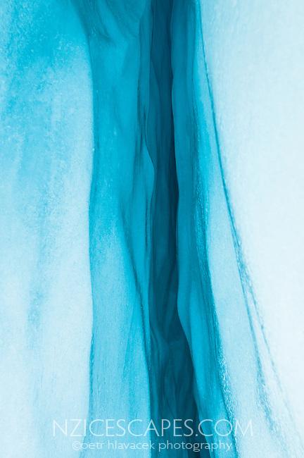 Deep blue ice on Franz Josef Glacier, Westland Tai Poutini National Park, West Coast, UNESCO World Heritage Area, New Zealand, NZ