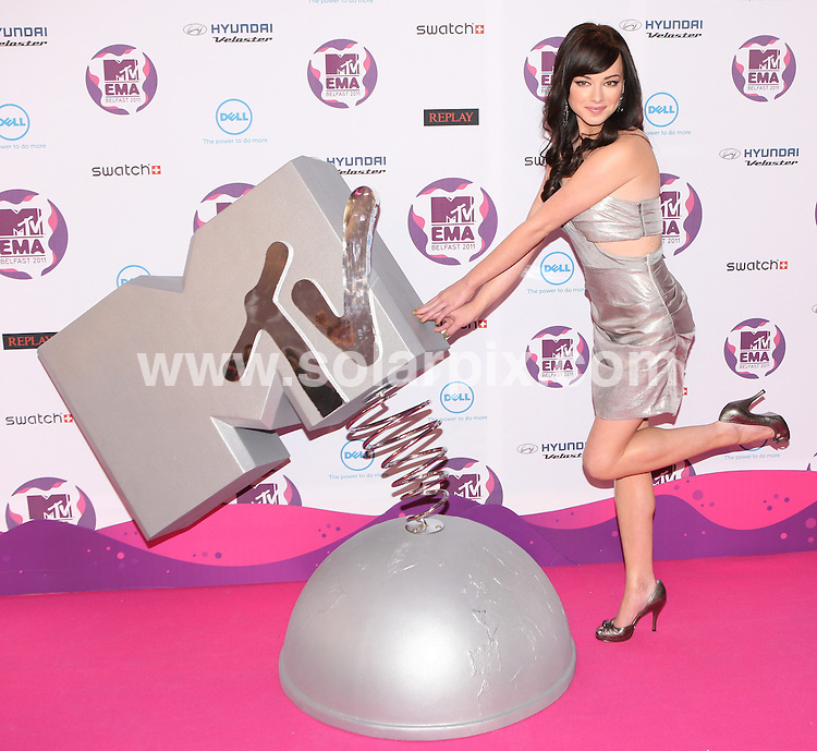 **ALL ROUND PICTURES FROM SOLARPIX.COM**                                             **WORLDWIDE SYNDICATION RIGHTS**                                                                                  MTV EMA Awards 2011_at the Odessey Arena Belfast.This pic:   Ashley Rickards                .JOB REF:   14157    WMB       DATE:  07.11.11                                                          **MUST CREDIT SOLARPIX.COM OR DOUBLE FEE WILL BE CHARGED**                                                                      **MUST AGREE FEE BEFORE ONLINE USAGE**                               **CALL US ON: +34 952 811 768 or LOW RATE FROM UK 0844 617 7637**