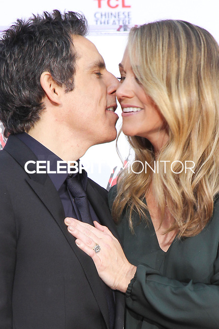 HOLLYWOOD, CA - DECEMBER 03: Ben Stiller, Christine Taylor attending the Ben Stiller Hand/Footprint Ceremony held at TCL Chinese Theatre on December 3, 2013 in Hollywood, California. (Photo by David Acosta/Celebrity Monitor)