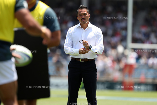 Atsushi Tanabe Coach (Sunwolves),<br /> JULY 15, 2017 - Rugby : Super Rugby match between Sunwolves 48-21 Blues at Prince Chichibu Memorial Stadium in Tokyo, Japan. (Photo by AFLO)