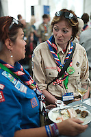 Reception with H.M. King Carl XVI Gustaf at the Special Guest Area at the 22nd World Scout Jamboree Sweden 2011.