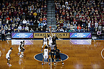 SIOUX FALLS, SD: MARCH 22:  Northern State and Queens (NC) tip off their game at the 2018 Division II Men's Basketball Championship at the Sanford Pentagon in Sioux Falls, S.D. (Photo by Dick Carlson/Inertia)