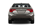 Straight rear view of 2017 Toyota Corolla XLE Premium 4 Door Sedan stock images