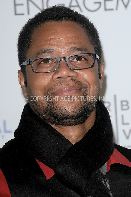 "WWW.ACEPIXS.COM . . . . . .April 18, 2012...New York City....Cuba Gooding Jr arriving to the Universal Pictures premiere of ""The Five Year Engagement"" for the opening of the Tribeca Film Festival at the Ziegfeld Theatre on April 18, 2012  in New York City ....Please byline: KRISTIN CALLAHAN - ACEPIXS.COM.. . . . . . ..Ace Pictures, Inc: ..tel: (212) 243 8787 or (646) 769 0430..e-mail: info@acepixs.com..web: http://www.acepixs.com ."