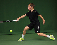 20131201,Netherlands, Almere,  National Tennis Center, Tennis, Winter Youth Circuit, Sander Jong  <br /> Photo: Henk Koster
