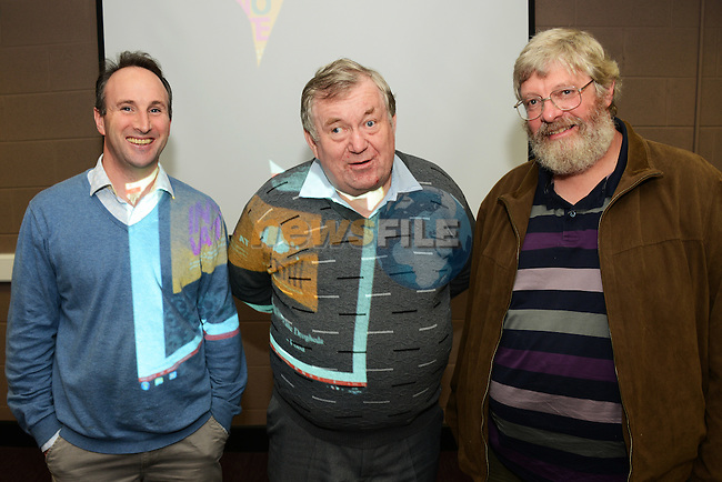 Speakers at the 'Innovate Drogheda – Food' event at The Mill, – Drogheda's Enterprise Hub, were (from left) Breanndán Casey of the Mill, Liam Reilly of Millmount Museum and Andrew Workman of Dunany Flour.