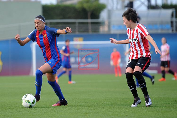 Spanish Women's Football League Iberdrola 2016/17 - Game: 11.<br /> FC Barcelona vs Athletic Club: 2-1.<br /> Andressa Alves vs Erika Vazquez.