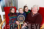 Roisin Daly, Anndee Linehan and Laura O'Leary from Rathmore Social Action Group chatting to Mary O'Reilly at St Josephs Day Centre on Wednesday the group are the National Lottery Good Causes award regional winner