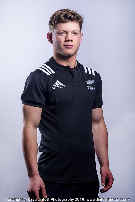 Ollie Lewis (Christchurch Boys' High School). 2019 New Zealand Schools rugby union headshots at the Sport & Rugby Institute in Palmerston North, New Zealand on Wednesday, 25 September 2019. Photo: Dave Lintott / lintottphoto.co.nz