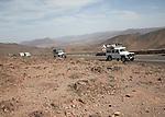 Jeeps Atlas Mountains, Jebel Sarhro mountains near Tizi n Tinififft Pass, Morocco