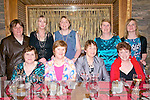 Mary McCarthy, Peggy Flahive, Mary Ann Griffin and Siobhan Griffin with, back left, Kathleen Moriarty, Mary Ferriter, Trisha Moriarty, Kathleen McCarthy and Breda McCarthy, all from Anascaul, enjoying Women's Christmas at the Dingle Bay Hotel on Thursday night.
