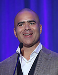 Christopher Jackson on stage during the 2017 Tony Awards Nominations Announcement at The New York Public Library for the Performing Arts on May 2, 2017 in New York City