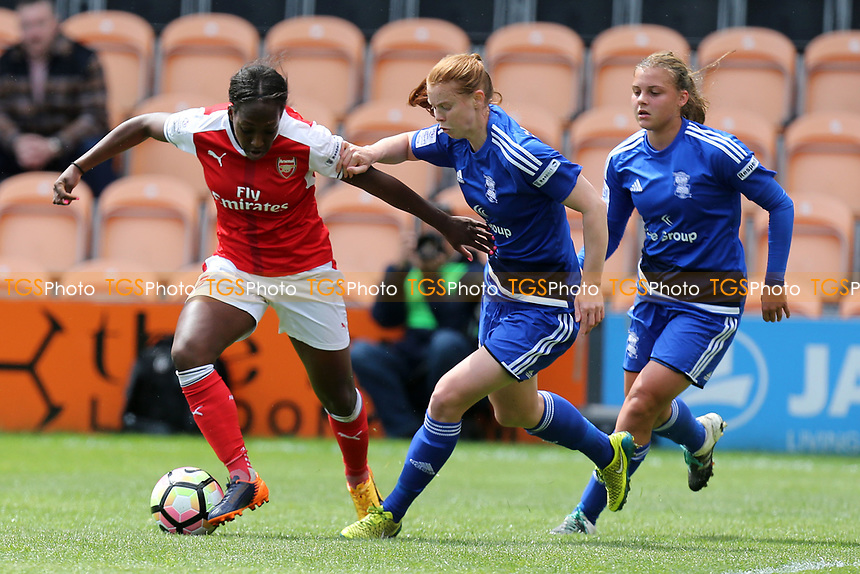 Danielle Carter of Arsenal Ladies and Aoife Mannion of Birmingham City Ladies during Arsenal Ladies vs Birmingham City Ladies, FA Women's Super League FA WSL1 Football at the Hive Stadium on 20th May 2017